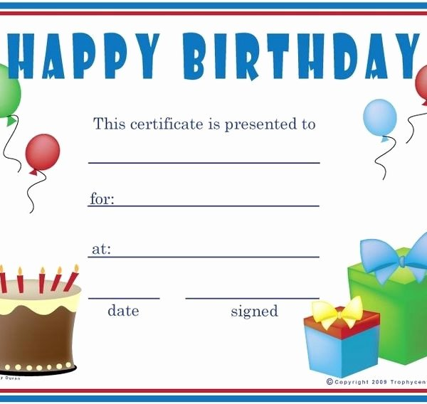 Birthday Coupons Template Unique Birthday Gift Certificate Template