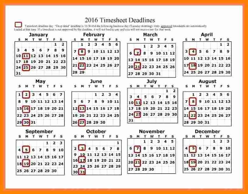 Biweekly Payroll Calendar Template 2017 Best Of 14 Securitas Pay Calendar 2018