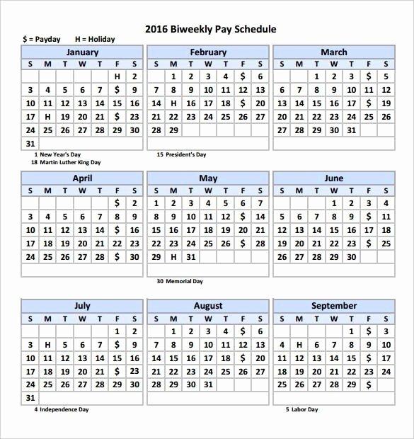 Biweekly Payroll Calendar Template 2017 Best Of 15 Bi Weekly Payroll