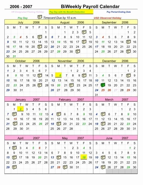 Biweekly Payroll Calendar Template 2017 Fresh Opm Pay Period Calendar 2016