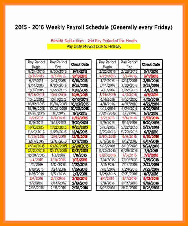 Biweekly Payroll Calendar Template 2017 Lovely 14 Securitas Pay Calendar 2018