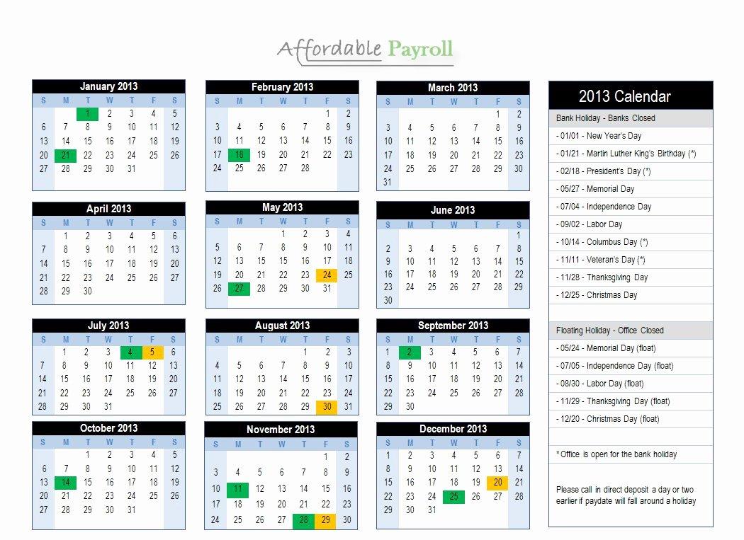Biweekly Payroll Calendar Template 2017 Lovely 2016 Bi Weekly Payroll Calendar Adp to Pin On