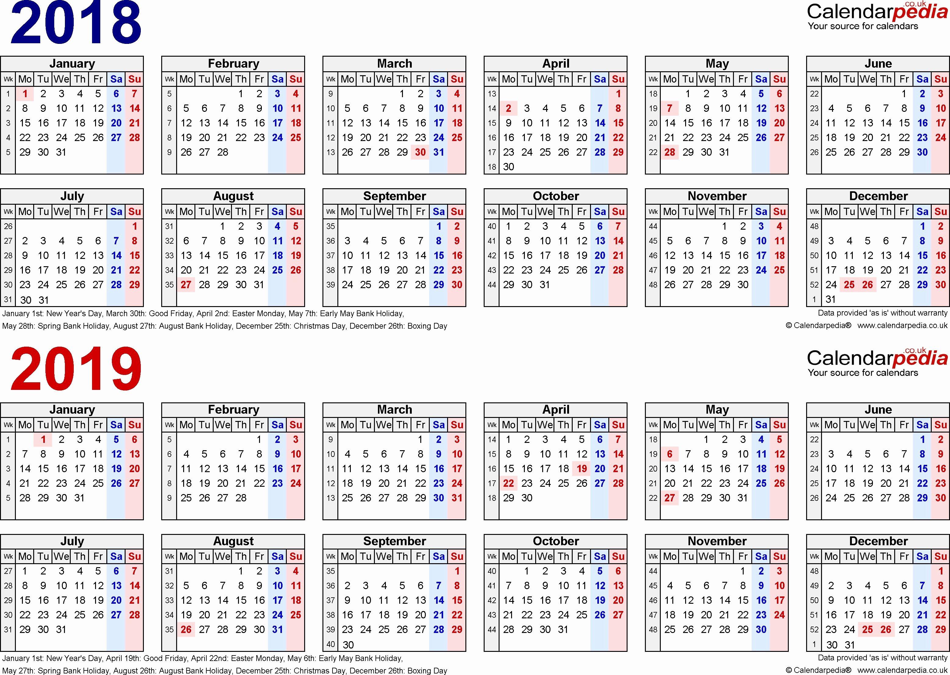 Biweekly Payroll Calendar Template 2019 Beautiful Pay Period Calendar Bi Weekly 2018