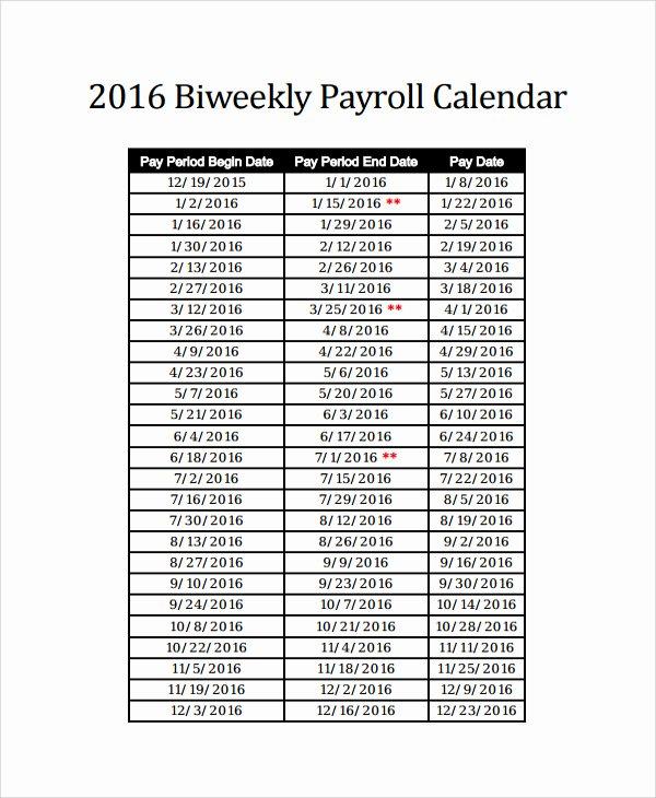 Biweekly Payroll Calendar Template 2019 Luxury Payroll Calendar Template