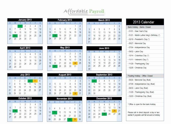Biweekly Payroll Calendar Template 2019 New Adp 2016 Payroll Calendar Printable