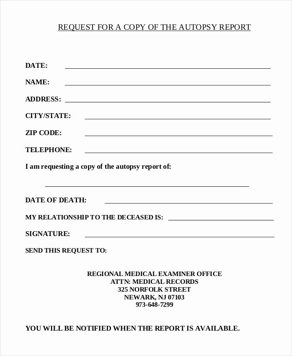 Blank Autopsy Report Template New Autopsy Report Template 6 Free Word Pdf Documents