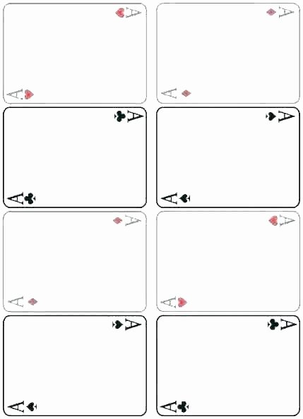 Blank Baseball Card Template Awesome Playing Card Template Blank Deck Cards Suits Printable
