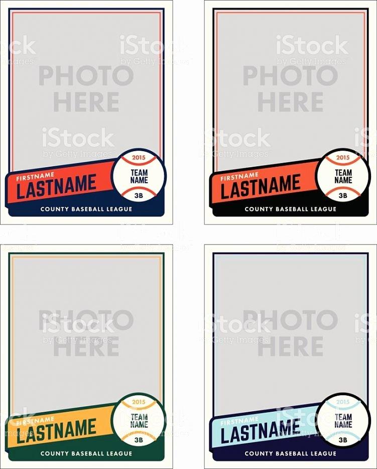 Blank Baseball Card Template Beautiful Baseball Card Template