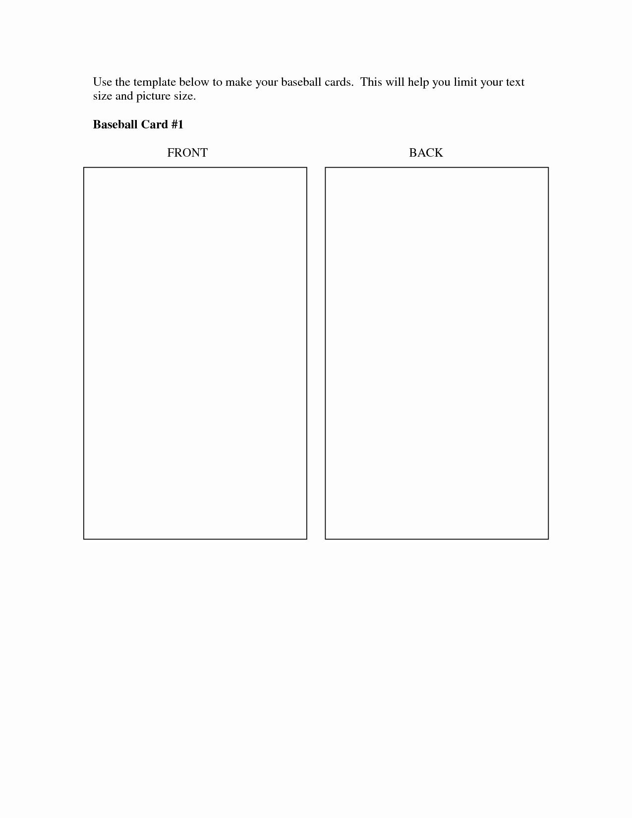 Blank Baseball Card Template Elegant Best S Of Baseball Trading Card Template Printable