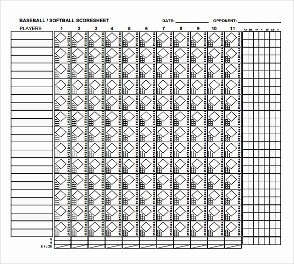 Blank Baseball Card Template Inspirational 8 Sample Baseball Score Sheets