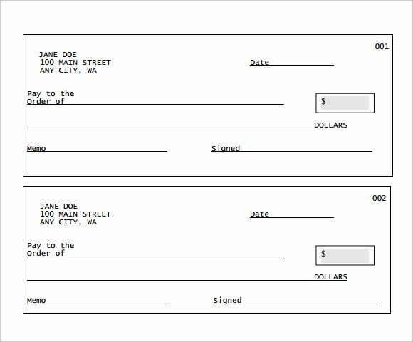 Blank Business Check Template Word Inspirational Sample Blank Cheque 5 Documents In Pdf Psd