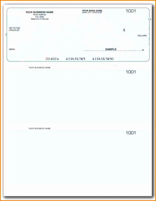 Blank Business Check Template Word Luxury 11 Payroll Checks Templates