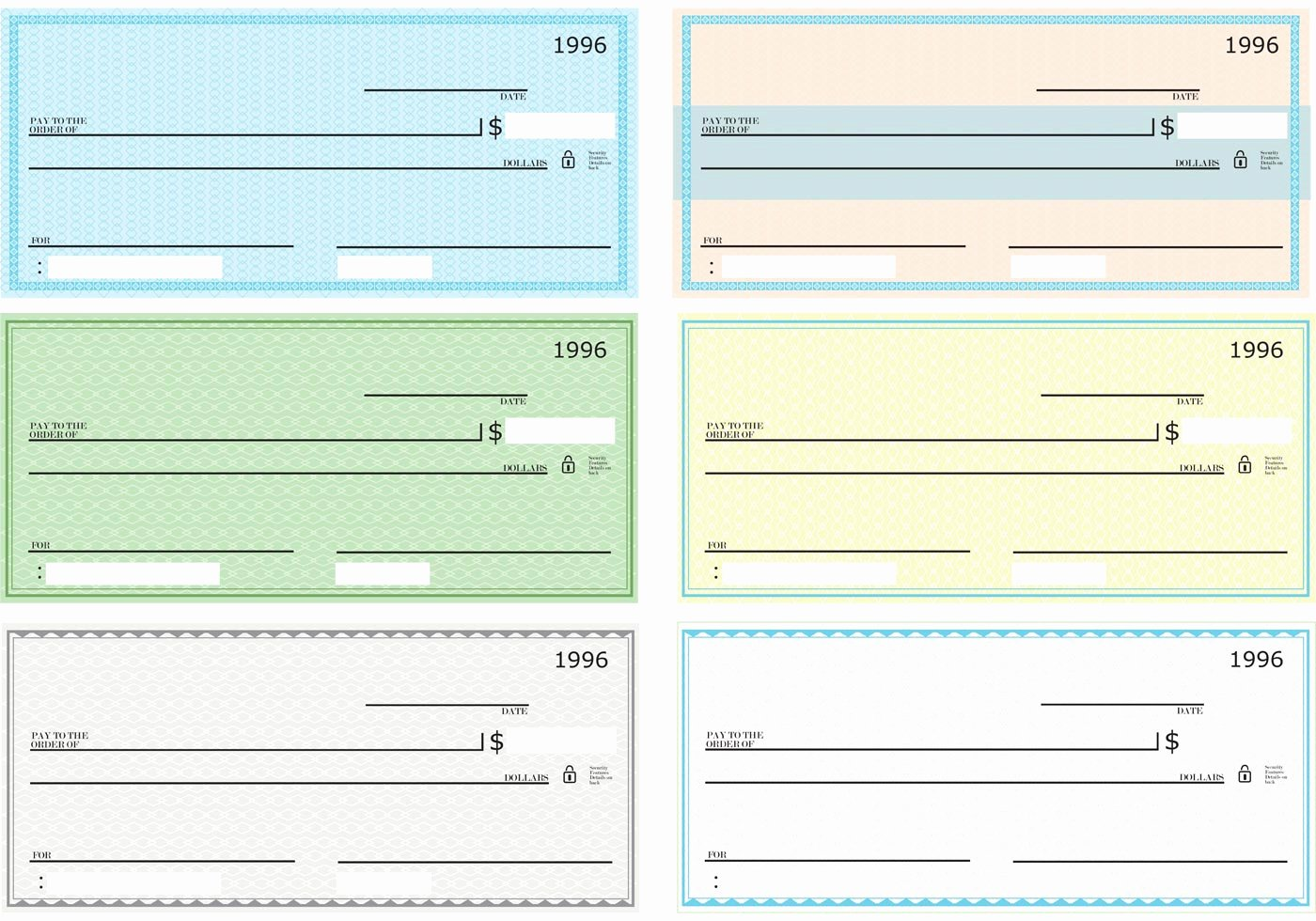 Blank Business Check Template Word Luxury Blank Check Vector Pack Download Free Vector Art Stock
