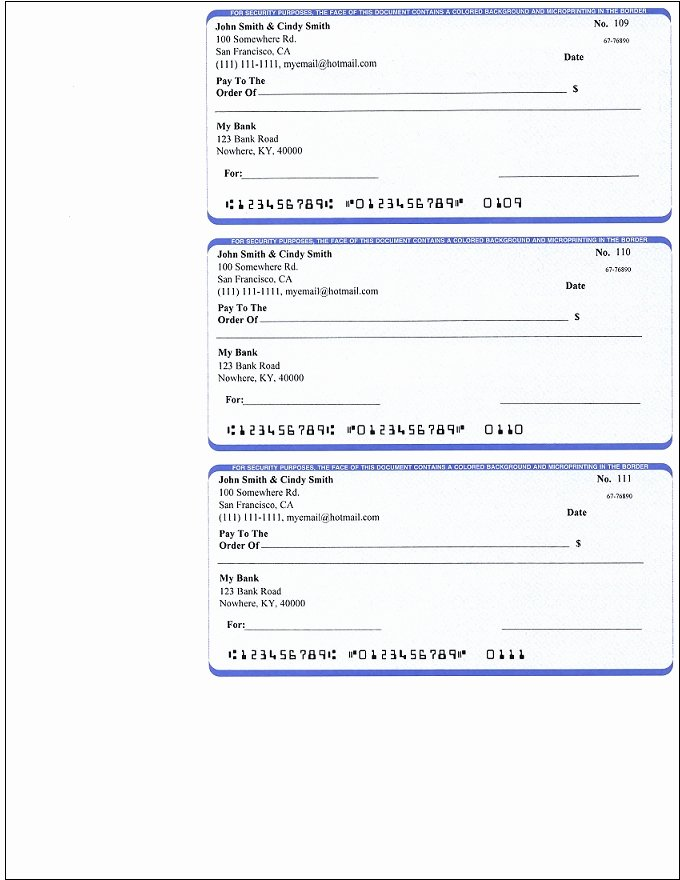 Blank Business Check Template Word Unique Ezcheckpersonal Makes It Easy to Print Pocket Sized