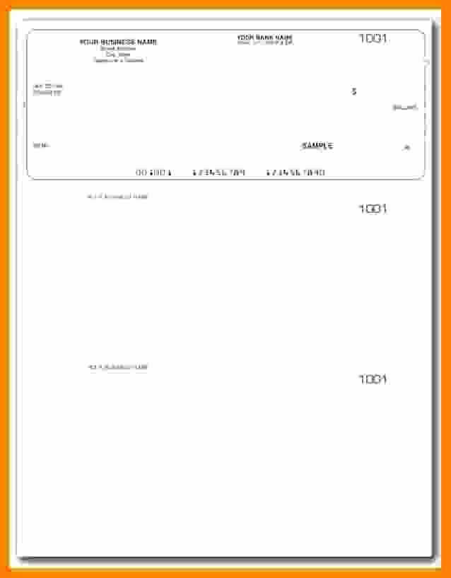 Blank Check Templates for Microsoft Word Lovely 5 Payroll Check Printing Template