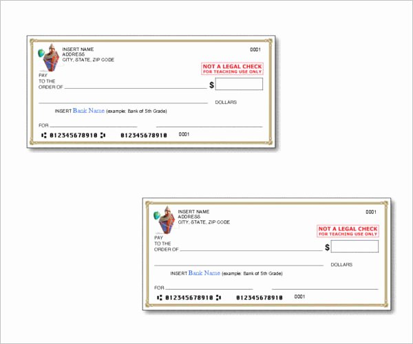 Blank Check Templates for Microsoft Word New 43 Cheque Templates Free Word Excel Psd Pdf formats