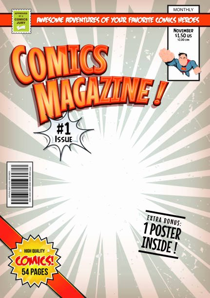 Blank Comic Book Cover Template Awesome top 60 Ic Book Clip Art Vector Graphics and