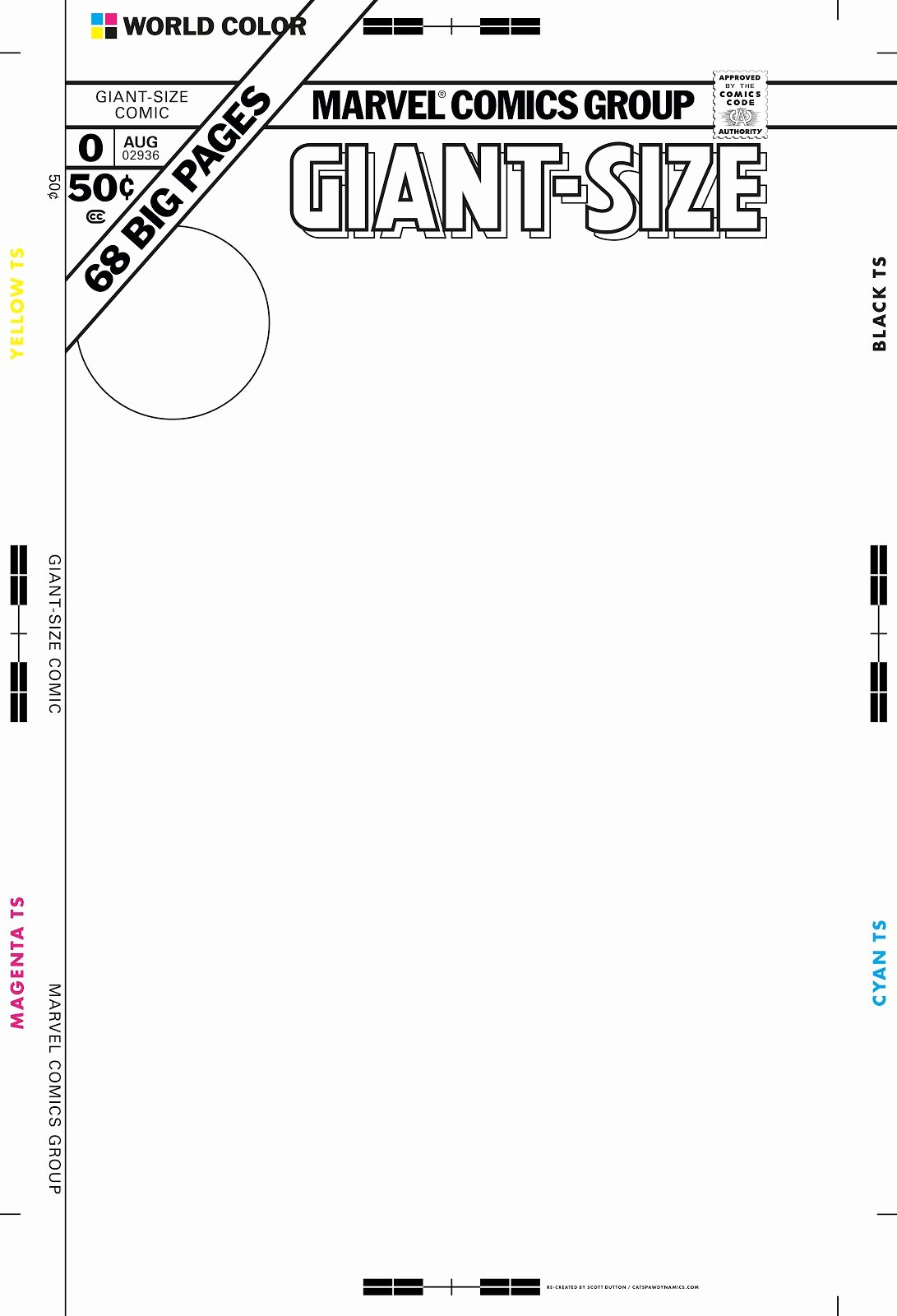 Blank Comic Book Cover Template Best Of Giant Size Marvel