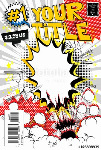 """Blank Comic Book Cover Template Best Of """"editable Ic Book Cover Template Customizable Title"""
