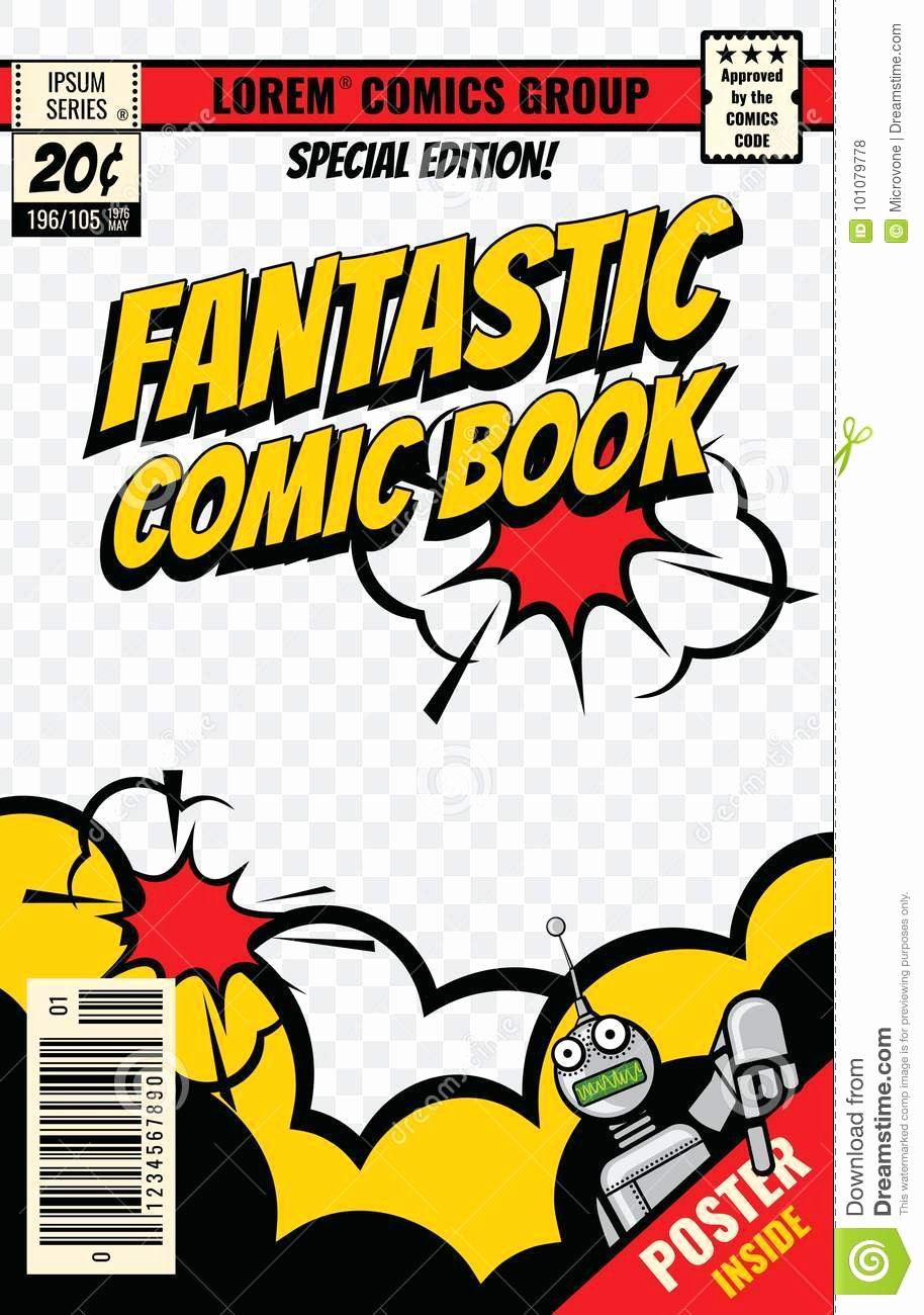Blank Comic Book Cover Template Fresh Ic Book Cover Vector Template Stock Vector