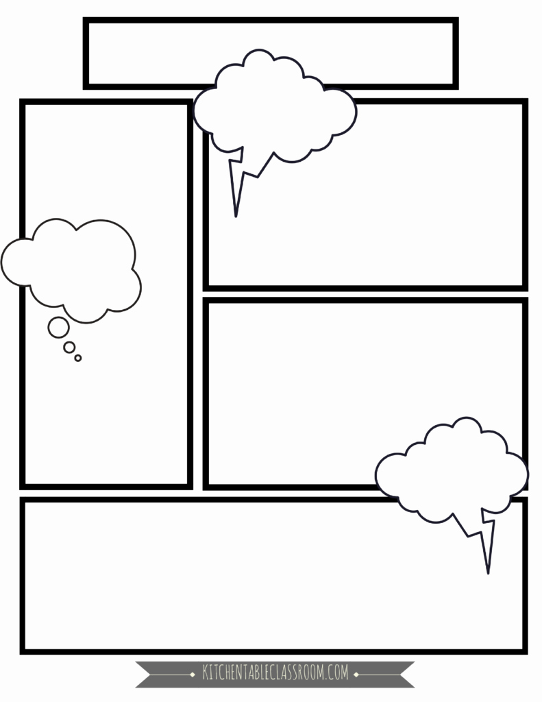 Blank Comic Book Cover Template Fresh Ic Book Templates Free Printable Pages the Kitchen