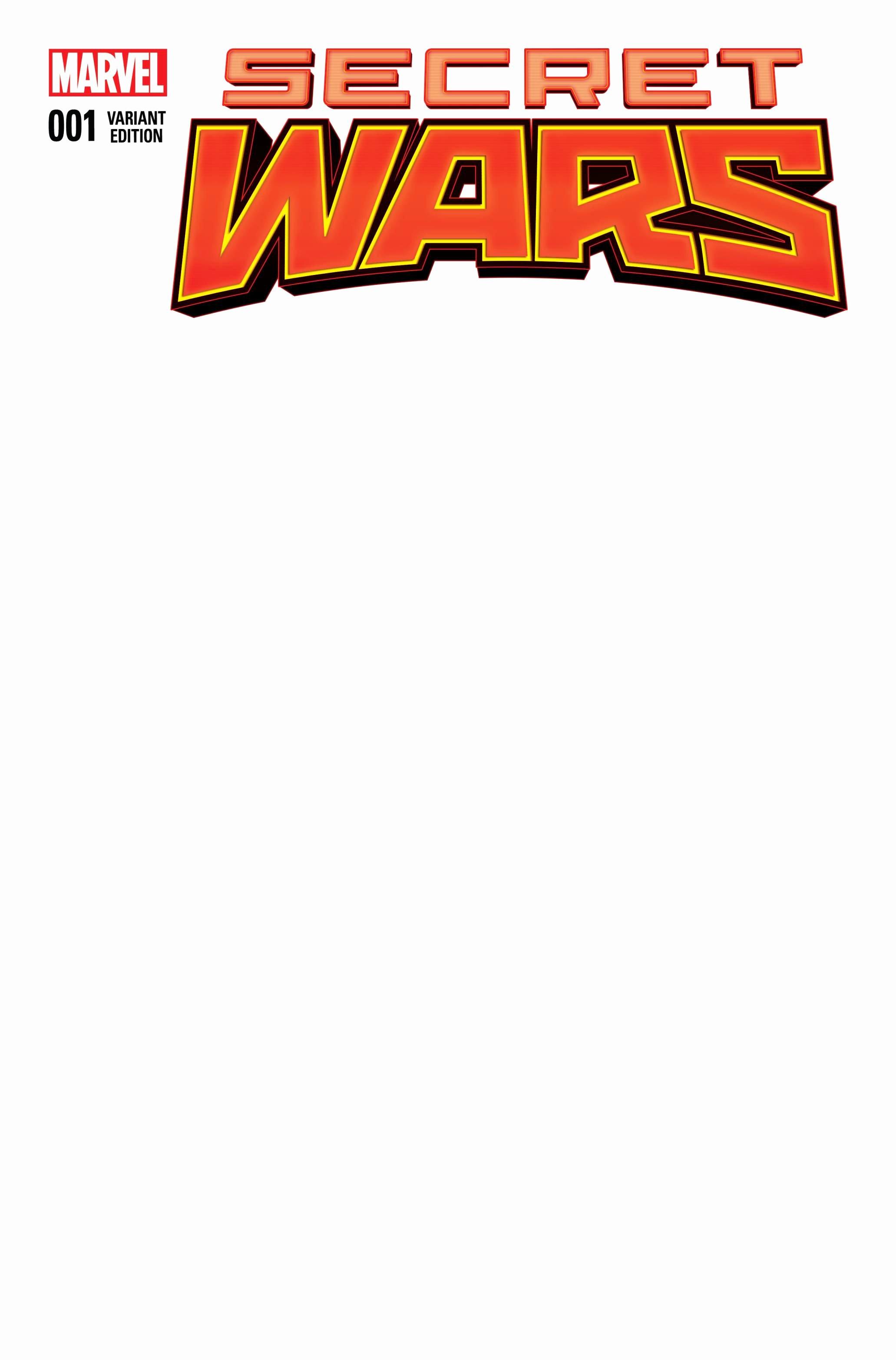 Blank Comic Book Cover Template Inspirational Secret Wars 1 Blank Variant