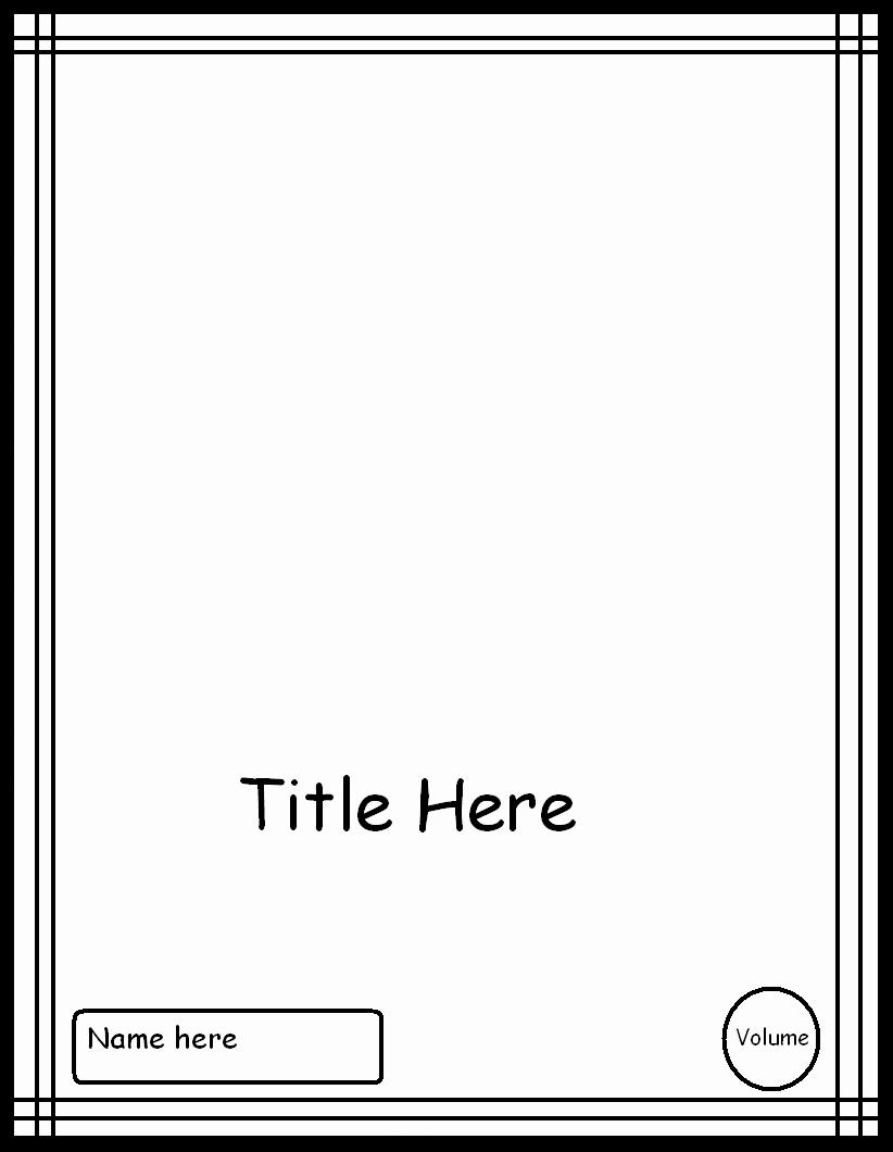 Blank Comic Book Cover Template Lovely Manga Cover Template 3 by Manga Template On Deviantart