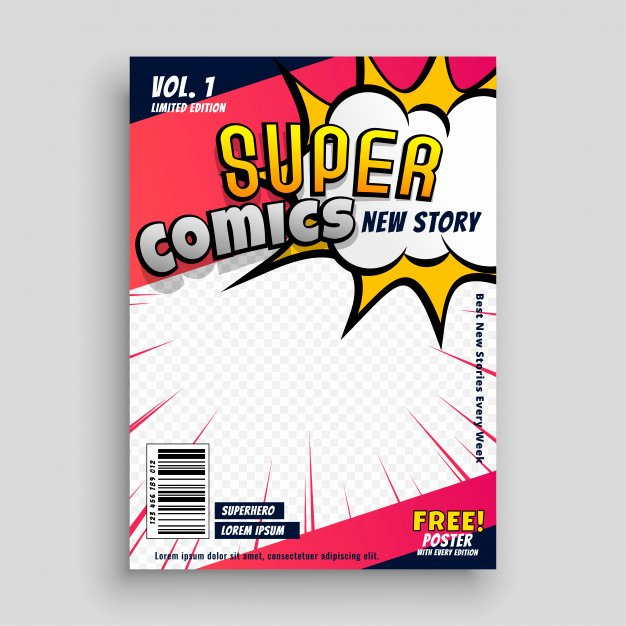 Blank Comic Book Cover Template New Pop Art Vectors S and Psd Files
