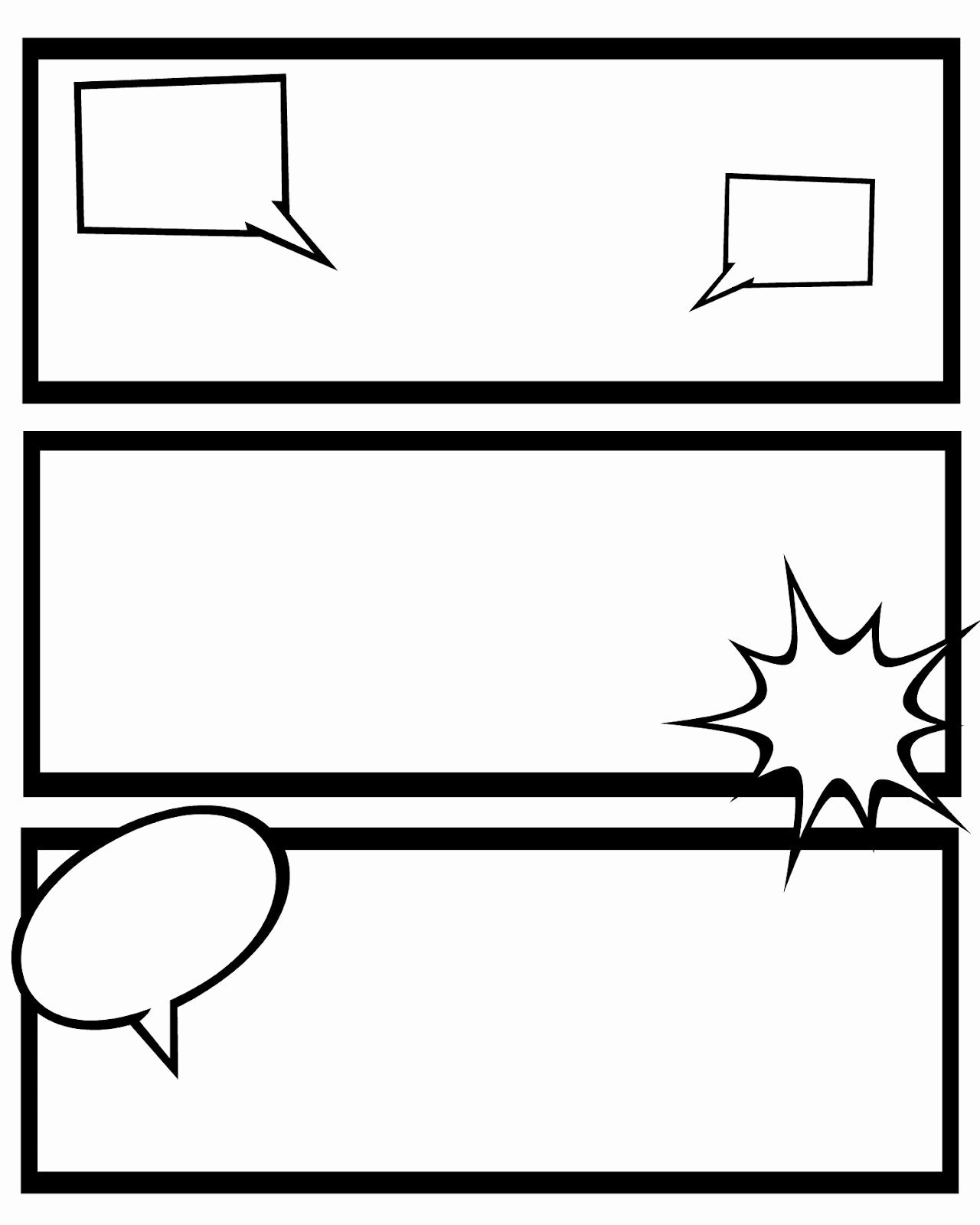 Blank Comic Book Cover Template Unique Printable Ic Strips for Narration Sweet Hot Mess
