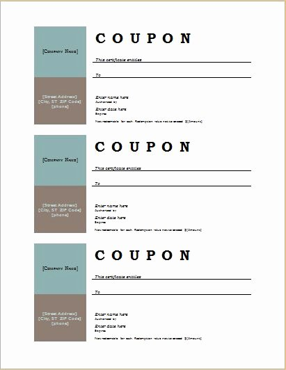 Blank Coupon Template for Word Awesome How to Make Coupons with Sample Coupon Templates
