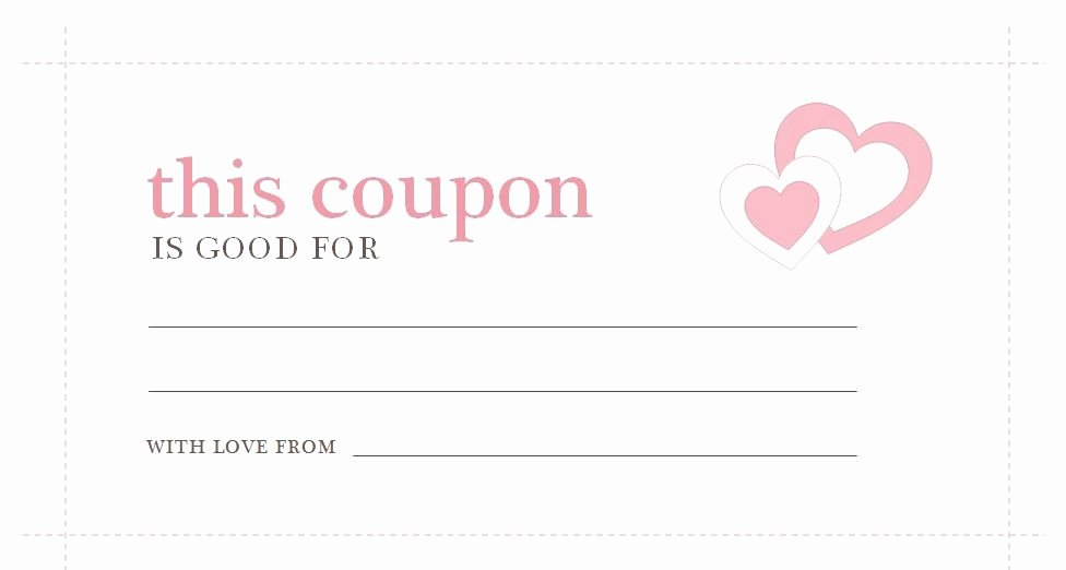 Blank Coupon Template for Word Beautiful Love Coupon Template Microsoft Word
