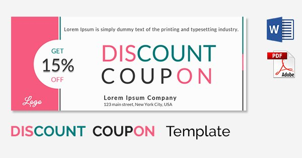 Blank Coupon Template for Word Best Of Coupon Template Word
