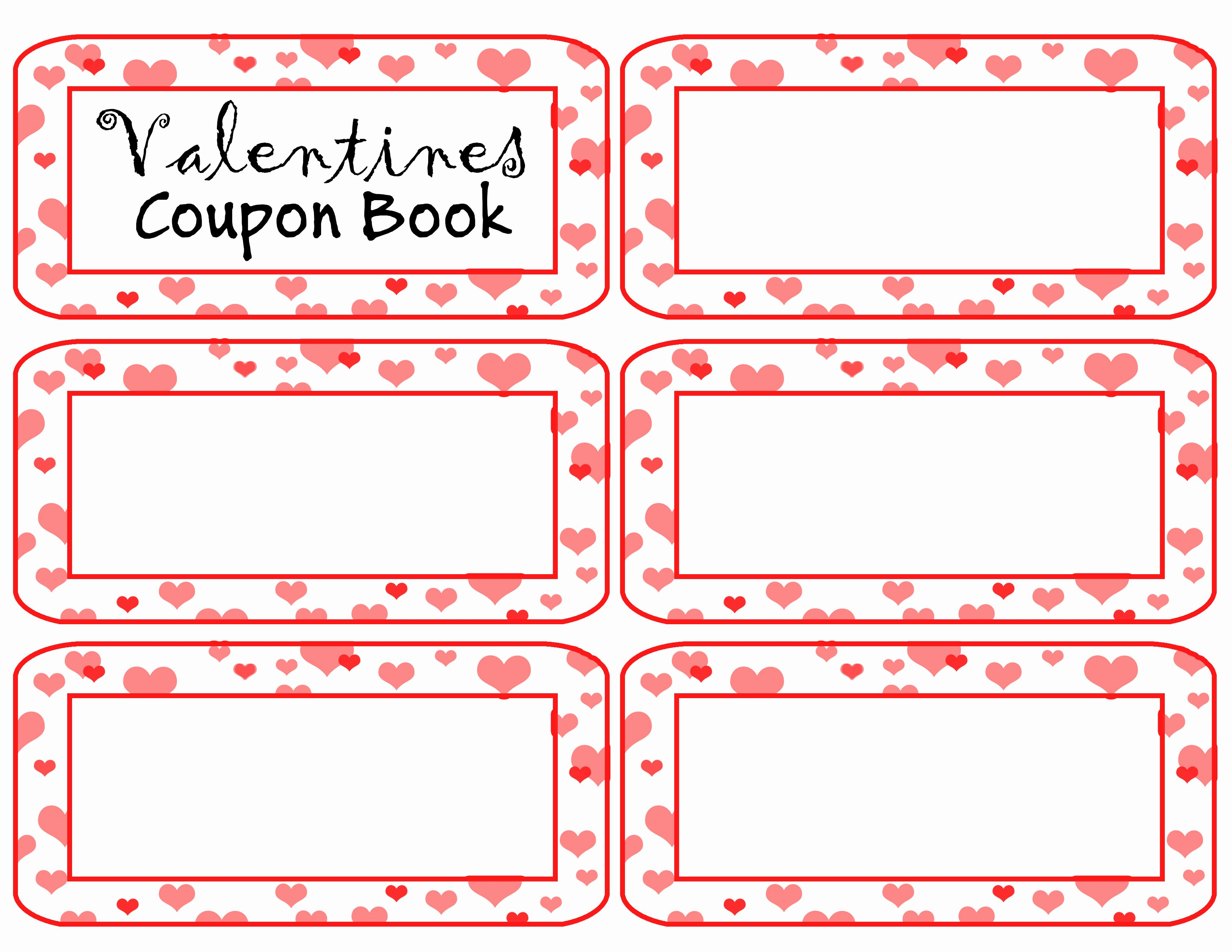 Blank Coupon Template for Word Lovely Coupon Book Template