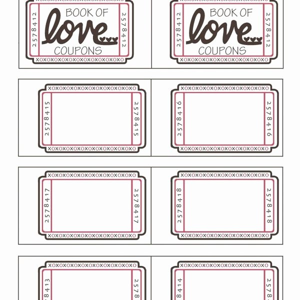 Blank Coupon Template for Word Luxury Blank Love Coupons Template