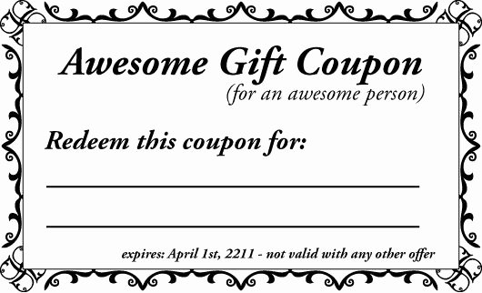 Blank Coupon Template for Word Luxury Printable Gift Coupon Templates for Birthdays for Any