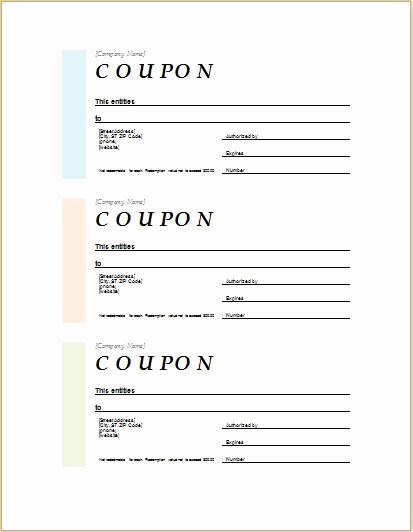 Blank Coupon Template for Word Unique How to Make Coupons with Sample Coupon Templates