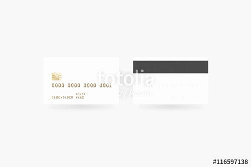 "Blank Credit Card Template Awesome ""blank White Credit Card Mockup isolated Clipping Path"