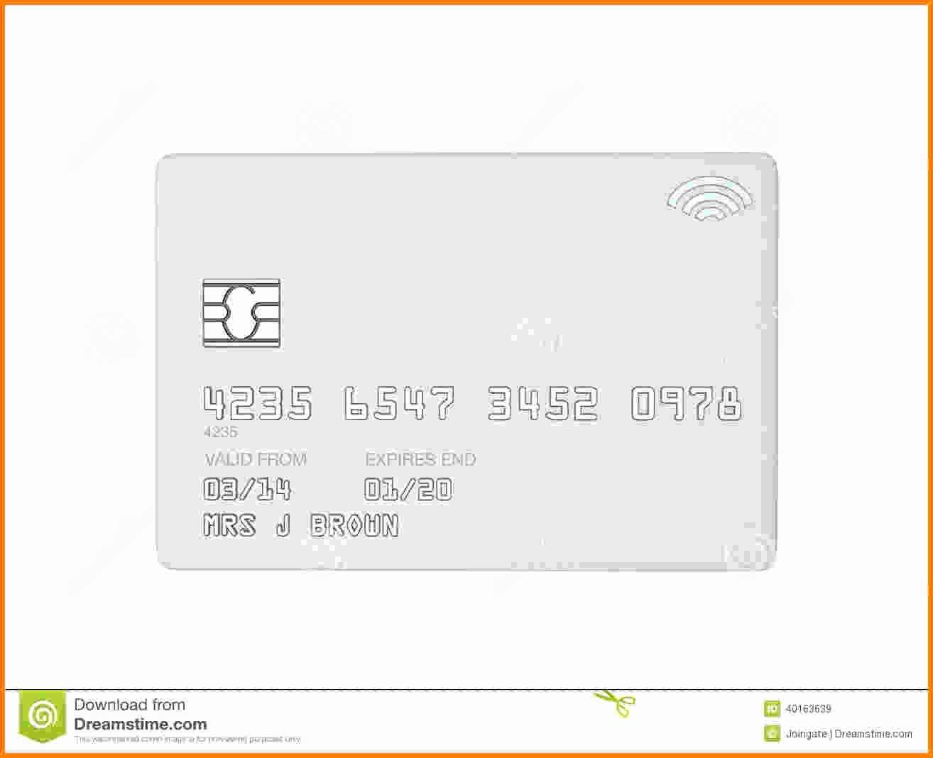 Blank Credit Card Template Elegant 5 Blank Credit Card