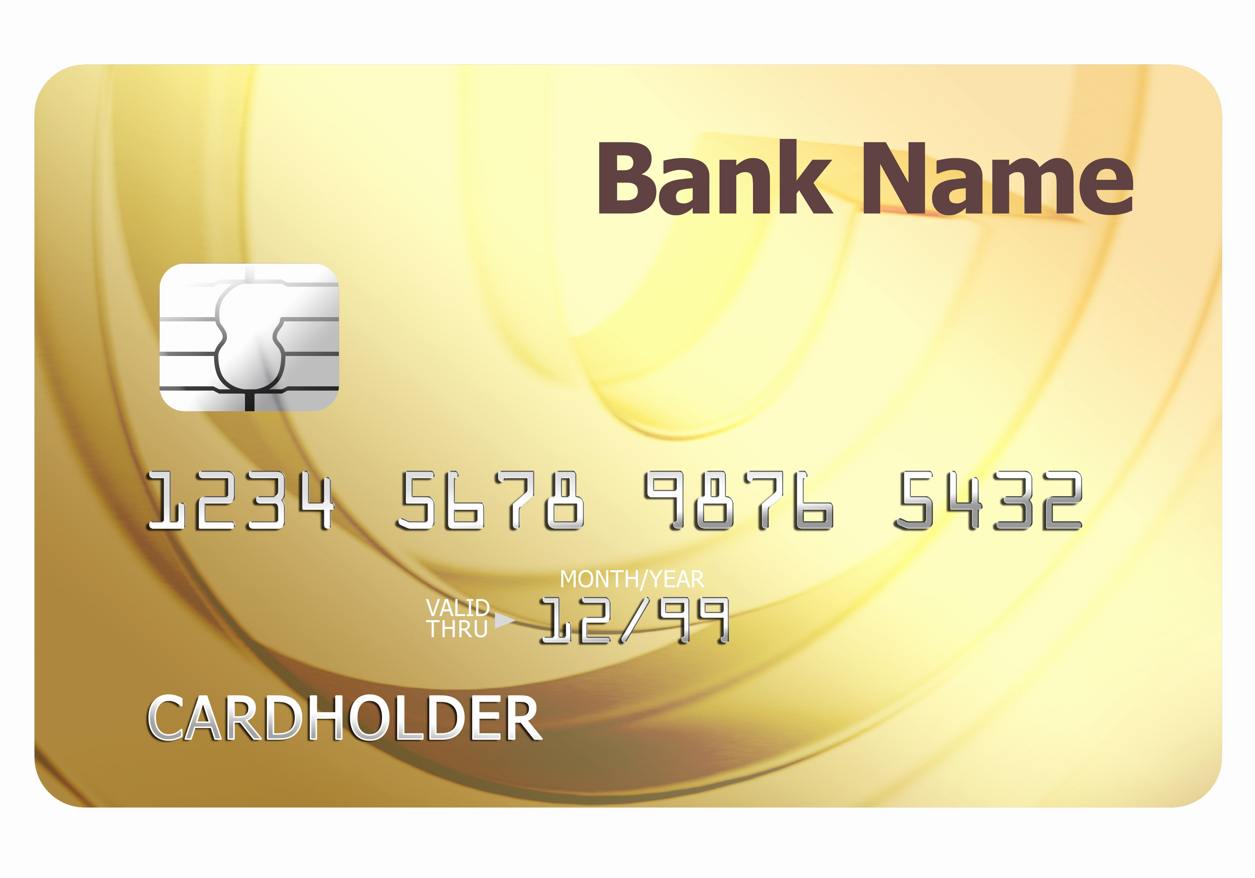 Blank Credit Card Template Elegant Credit Card Template