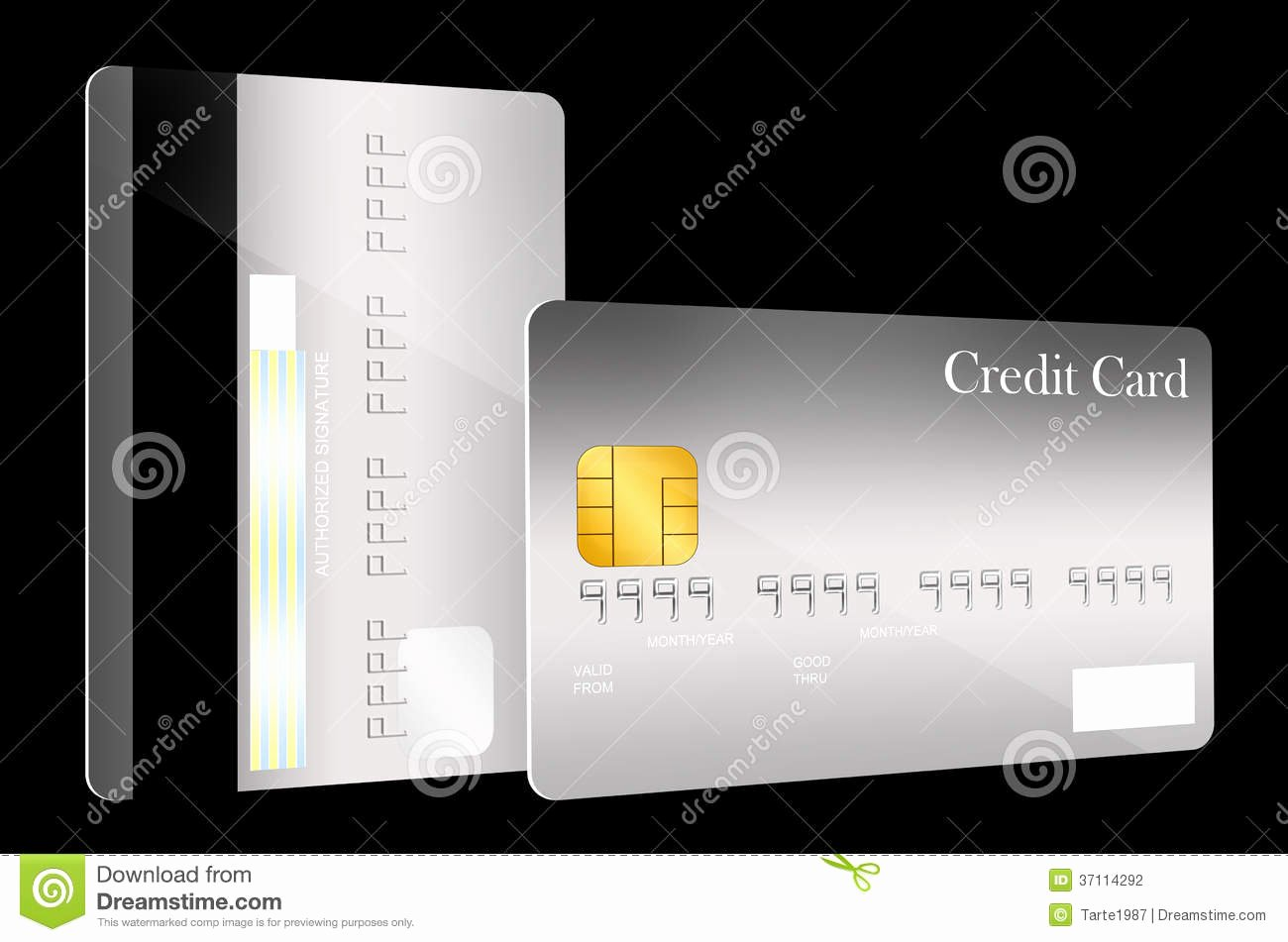 Blank Credit Card Template Fresh Front and Back Credit Card Template Stock Illustration