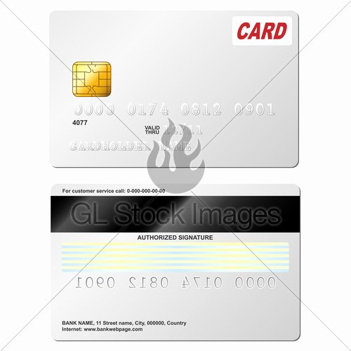 Blank Credit Card Template Inspirational Blank Credit Card Vector Template Front and Back View