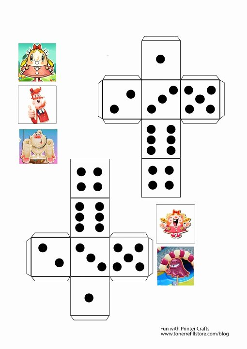 Blank Dice Template Inspirational Homeschool Fun Game Sheet A Candy Crush Saga with A Twist
