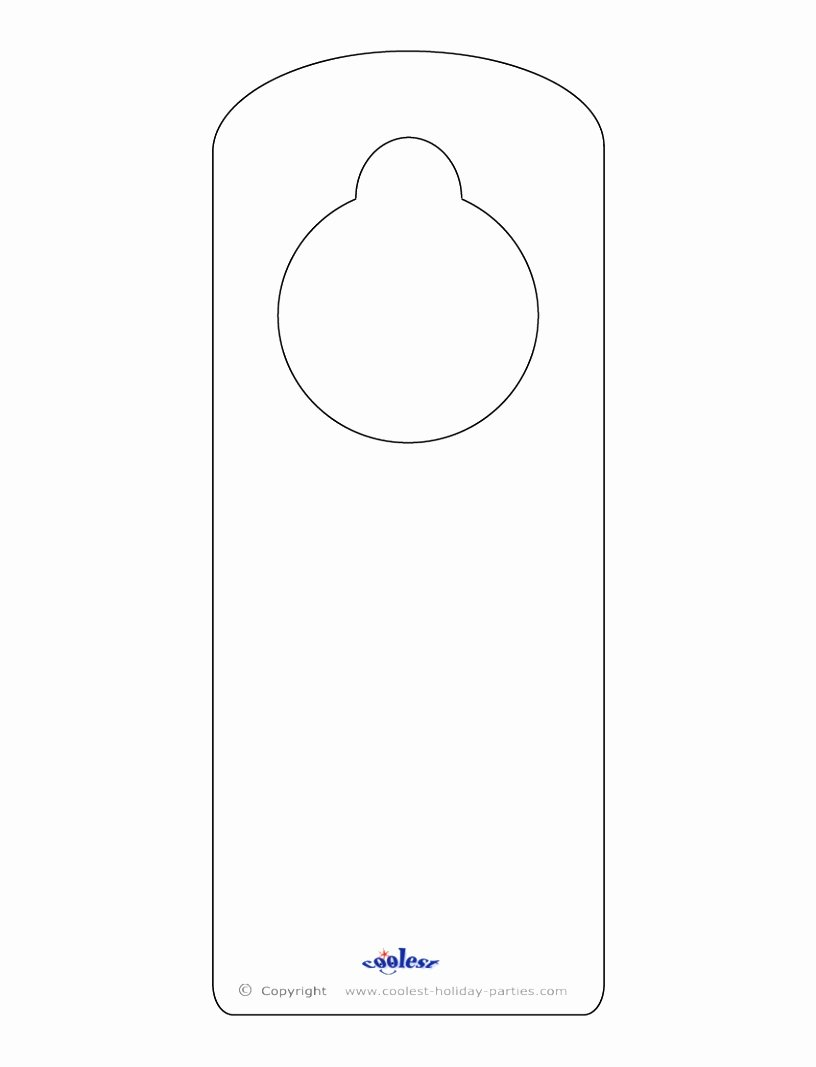 Blank Door Hanger Template for Word Awesome 9 Door Knob Templates Printable Arupr