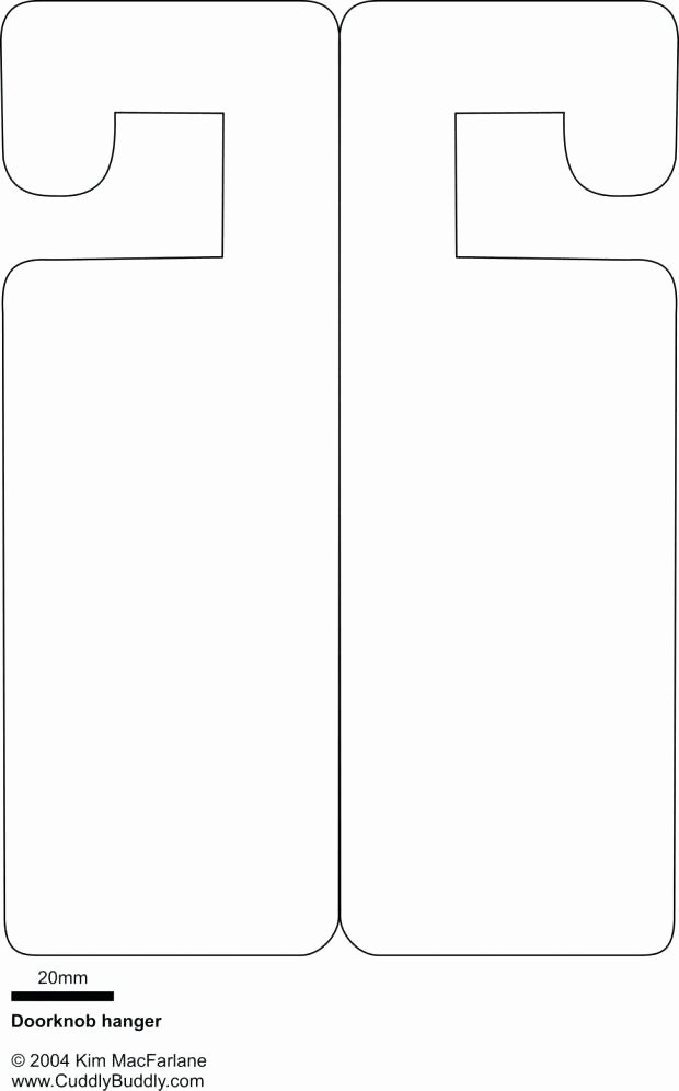 Blank Door Hanger Template for Word Beautiful Templates Door Hangers & Door Hanger Template