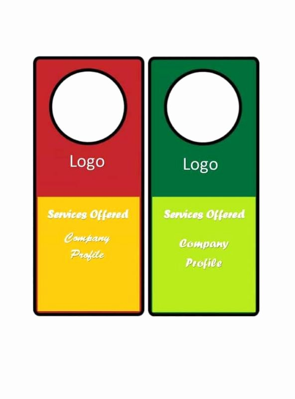 Blank Door Hanger Template for Word Inspirational Door Hanger Template for Word