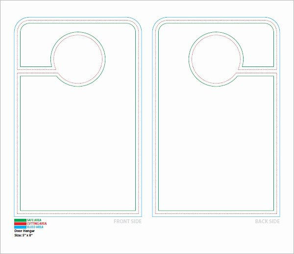 Blank Door Hanger Template for Word Unique 14 Door Hanger Templates