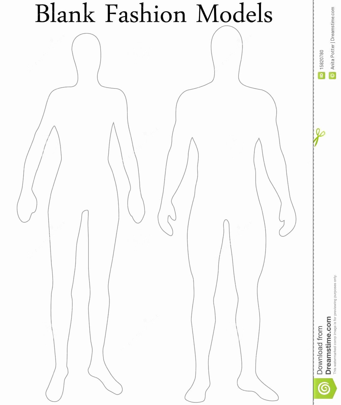 Blank Female Body Template Elegant Paper Doll Body Template