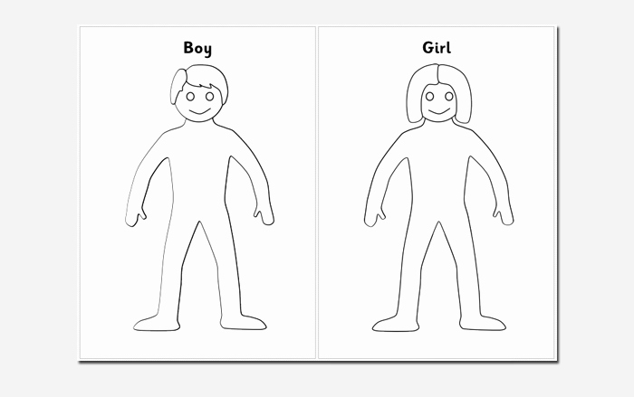 Blank Female Body Template Fresh Human Body Outline Template 32 Printable Worksheets
