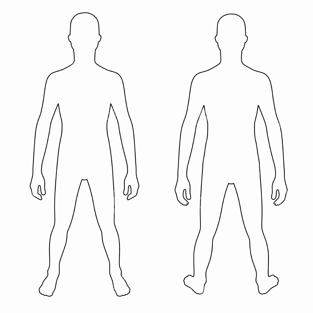 Blank Female Body Template Luxury Human Body Outline