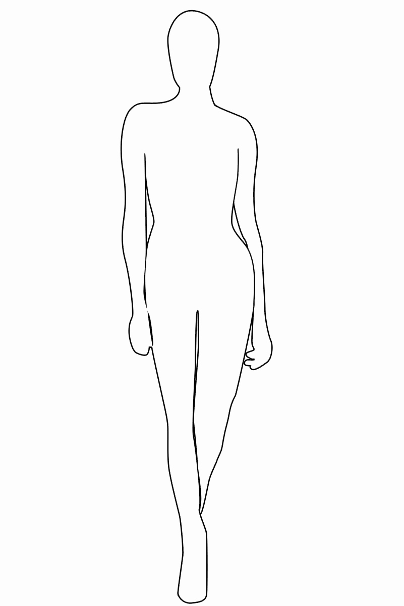 Blank Female Body Template New Female Outline Coloring Home